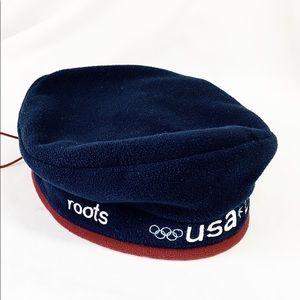 ROOTS 2002 Olympic Beret Salt Lake City Fleece